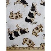 Tossed Farm Animals Cows and Pigs Windham Fabrics #2273 - Quilting & Sewing Fabric