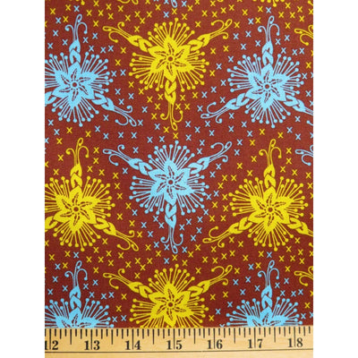 Trifloria Lou Lou Thi Brown Stars Anna Maria Horner Free Spirit #734 - Quilting & Sewing Fabric