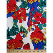 Tropical Birds Parrots and Habiscus Floral Hoffman Fabrics #2396 - Quilting & Sewing Fabric