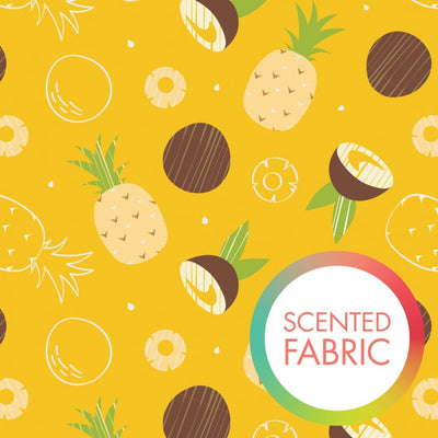 Tropical Pineapple & Coconut Scented Camelot Cottons Fabric #4678 - Quilting & Sewing Fabric