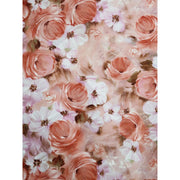 Tulle & Petals Floral Collage Soft Roses Fabri-Quilt Fabric #6356 - Quilting & Sewing Fabric