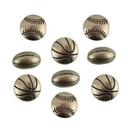 Vintage Game Balls Sports shank Embellishment Buttons Galore #4473 - Sewing Notions