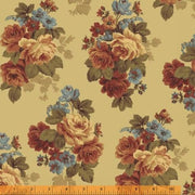 Wharton Tossed Roses Floral Windham Fabrics #3462 - Quilting & Sewing Fabric