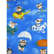 When Pigs Fly Airplanes Blue Cotton Hoffman California Fabrics #7529 - Quilting & Sewing Fabric