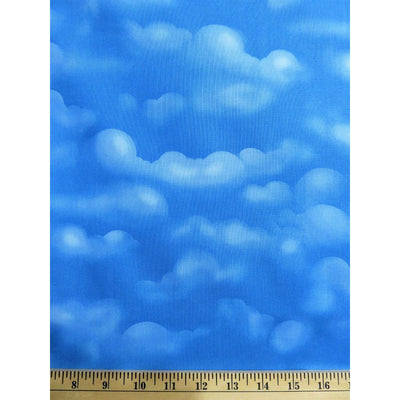 When Pigs Fly Cloudy Sky Blue Hoffman California Fabrics #2388 - Quilting & Sewing Fabric