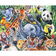Wild Instincts Jungle Babies Digital Panel 34.5in x 44in Four Seasons #7052 - Quilting & Sewing Fabric