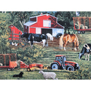 Wild Wings Brandt Farm Scenic Animals Springs Creative #4177 - Quilting & Sewing Fabric