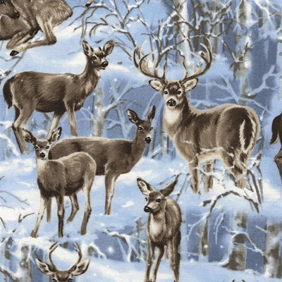 Wildlife Deer Majestic Moonlight Nature Outdoors Timeless Treasures #4630 - Quilting & Sewing Fabric