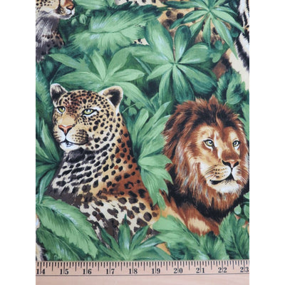 Wildlife Large Wild Cats Jungle Fever Master Print #831 - Quilting & Sewing Fabric
