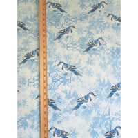 Wildlife Winter Blue Jay Birds & Snowflakes Timeless Treasures #2139 - Quilting & Sewing Fabric