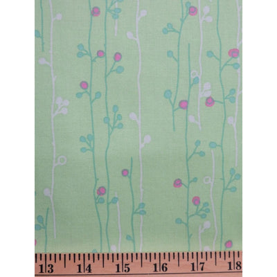 Wildwood Erin McMorris Green Sprouts Free Spirit #763 - Quilting & Sewing Fabric