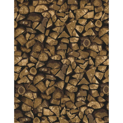 Winter Stacked Firewood Wood Brown Cotton Timeless Treasures #6614 - Quilting & Sewing Fabric