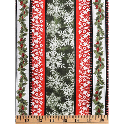 Wintergraphix lll Christmas Holly Stripe Red In the Beginning Fabrics #3302 - Quilting & Sewing Fabric