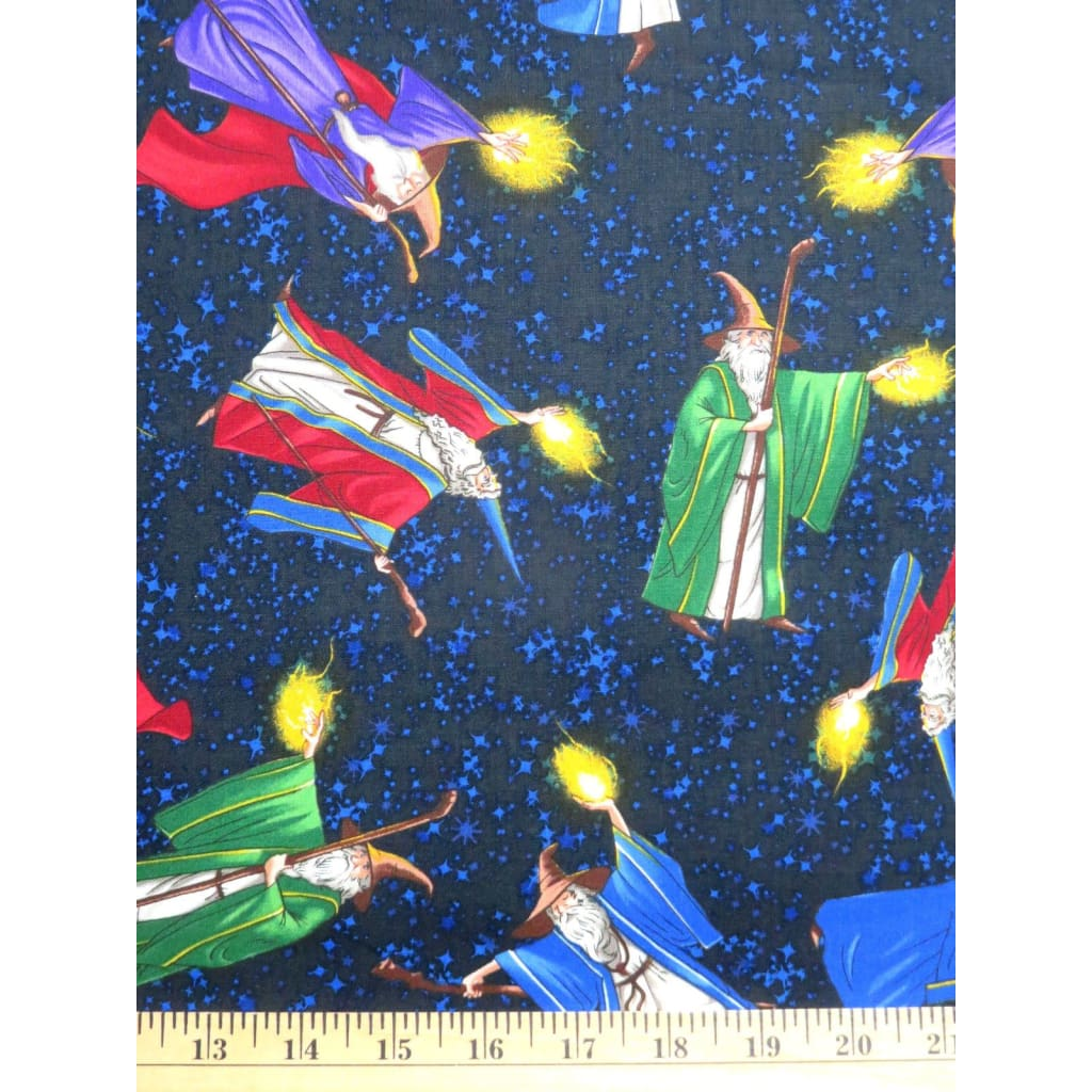 Wizards Midnight Childrens Novelty Timeless Treasures #2643 - Quilting & Sewing Fabric