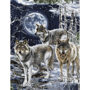 Wolf Wolves Howling at the Moon in the Woods Timeless Treasures #5698 - Quilting & Sewing Fabric