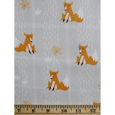 Wonderful Woodlands Grey Fox Plaid Foxes Wilmington Prints #2530 - Quilting & Sewing Fabric
