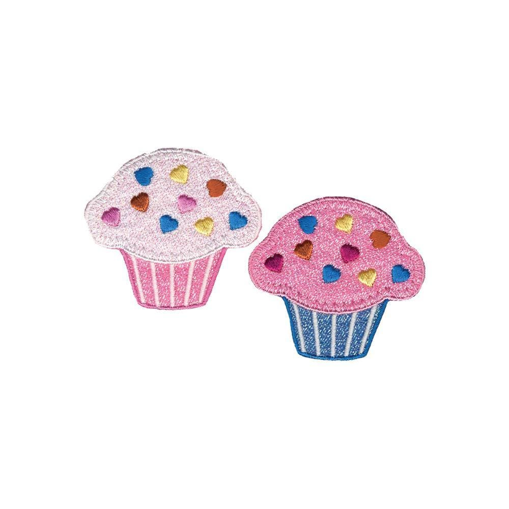 Wrights Cupcakes Iron-On Appliques 2/Pkg #5981 - Sewing Notions