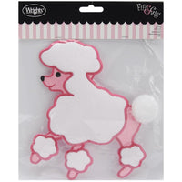 Wrights Fifi & Gigi Poodle Iron-On Applique #6001 - Sewing Notions