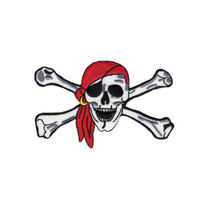 Wrights Pirate Skull & Cross bones Iron-On Applique #6139 - Sewing Notions