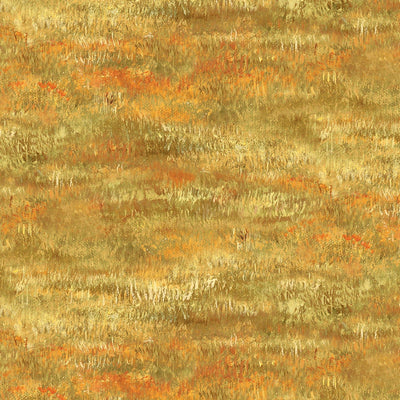 Yellow Autumn Grove Grass Nature Wilmington Print Fabric #7896 - Quilting & Sewing Fabric
