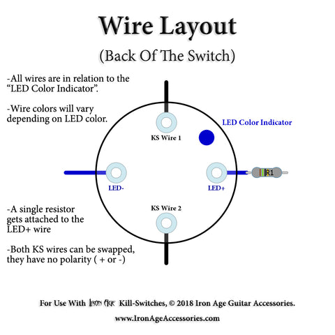 iron age guitar accessories guitar kill switch installation tips wiring diagram for led light bar switch iron age momentary led killswitch wiring