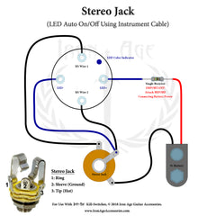Stereo Jack, Momentary Guitar LED Kill-switch, How To Install