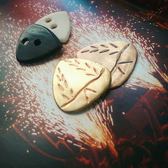 bone guitar pick, horn guitar plectrum, metal picks copper brass, iron age