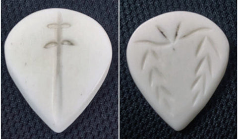 Handmade Guitar Picks, Iron Age Guitar Accessories, Bone JazzXL Guitar Plectrum