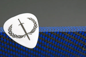 Custom Blue Carbon Fiber Pick
