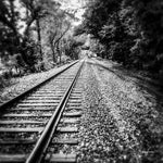 Awaiting the Train (B&W) - Lisa Faire Graham Fine Art Photography - Pix Synergy LLC