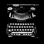 Corona Typewriter B&W Portrait - Lisa Faire Graham Fine Art Photography - Pix Synergy LLC