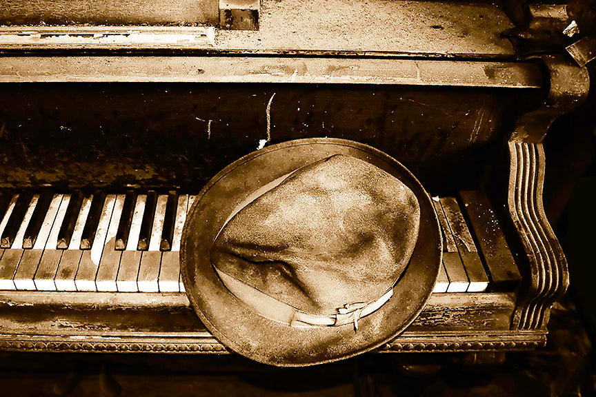 Fedora Keys - Sepia - Lisa Faire Graham Fine Art Photography - Pix Synergy LLC
