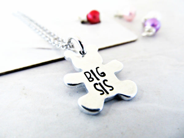 New Big Sister Necklace | Baby Announcement for Kids