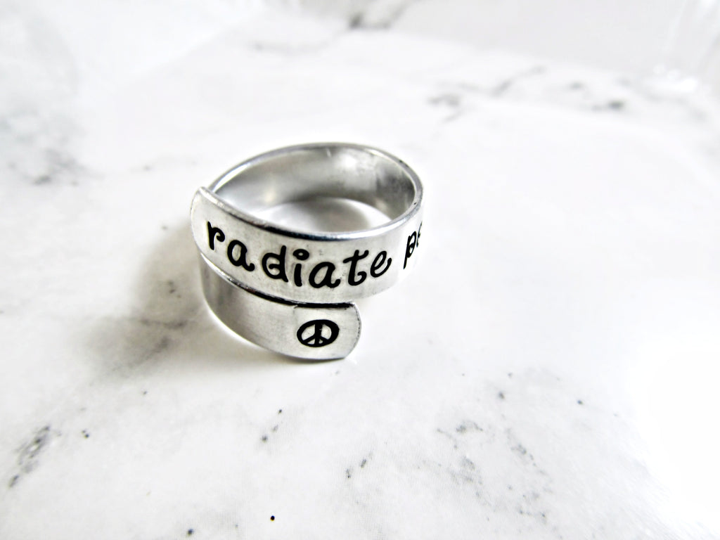 RADIATE POSITIVITY Adjustable Wrap Ring