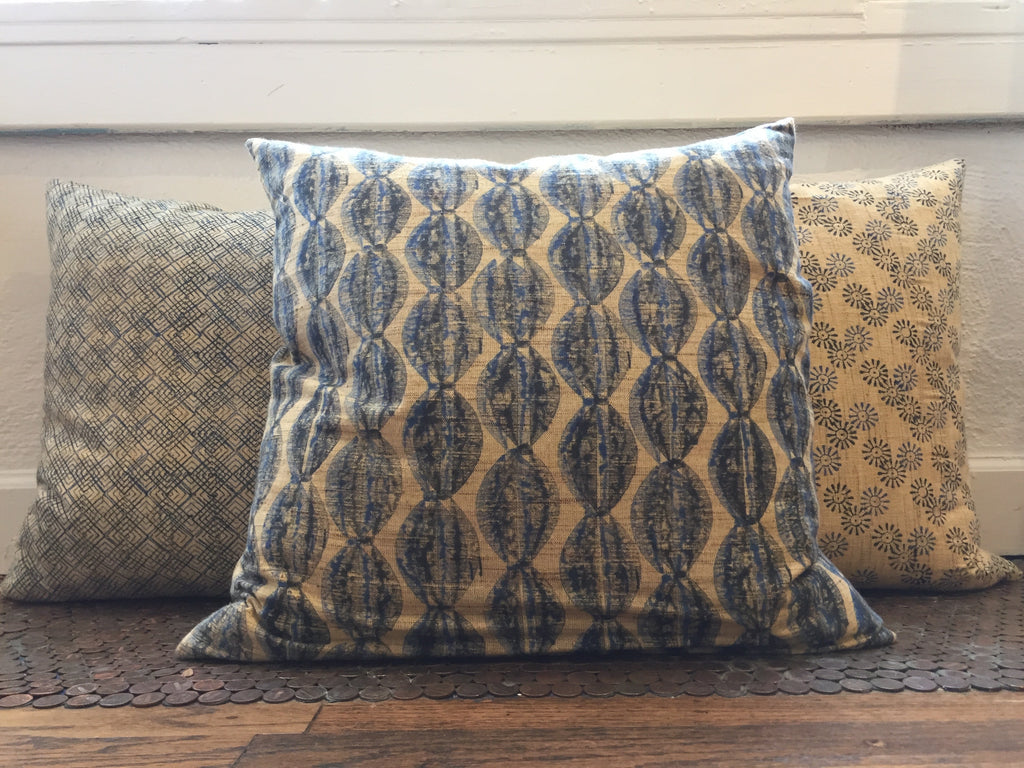 ASTARA BLOCK PRINT PILLOW WITH INSERT