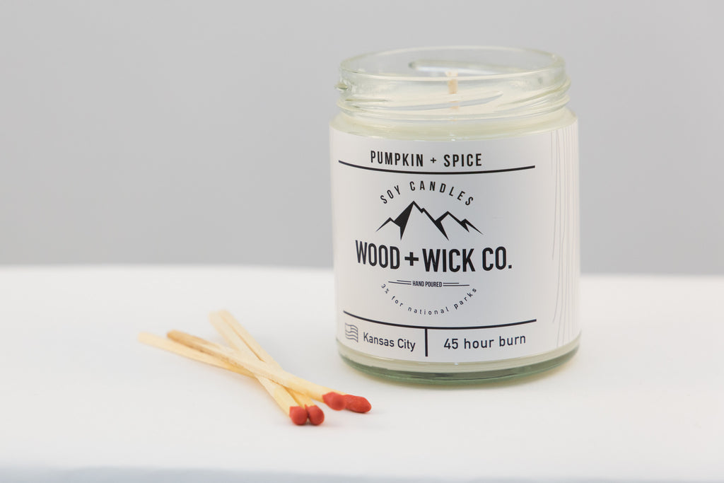 WOOD + WICK CANDLE