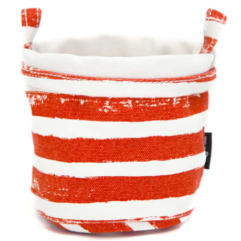 TANGERINE STRIPES RECYCLED CANVAS BUCKET