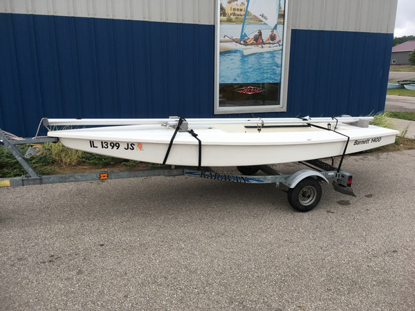 Barnett 1400 sailboat for sale with trailer