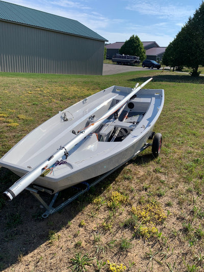 Mirror Dinghy with Dolly