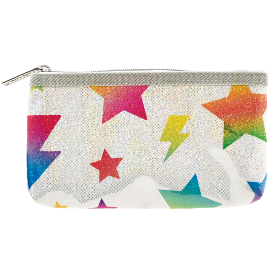 Stars and Lightning Glitter Pencil Case