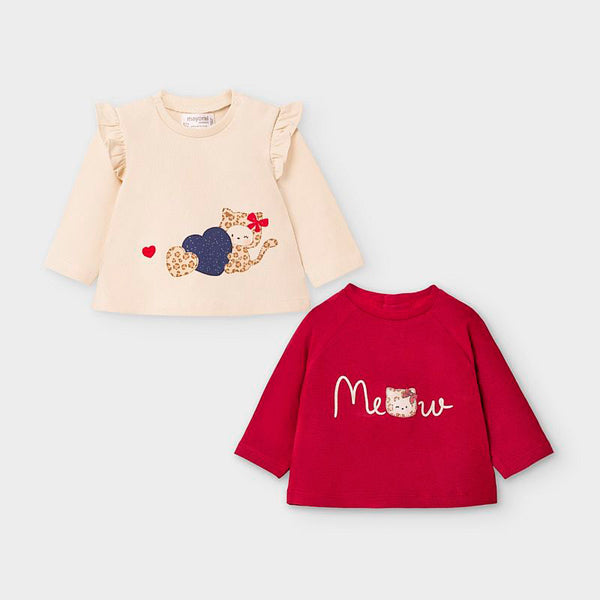 Long sleeved t-shirts set newborn girl 2033