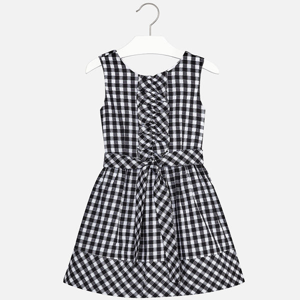 Girl gingham pattern dress 6950