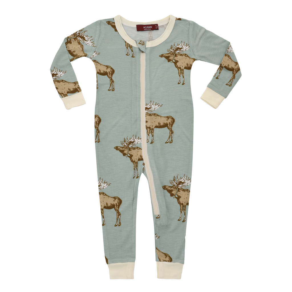 BAMBOO ZIPPER PAJAMA - Moose