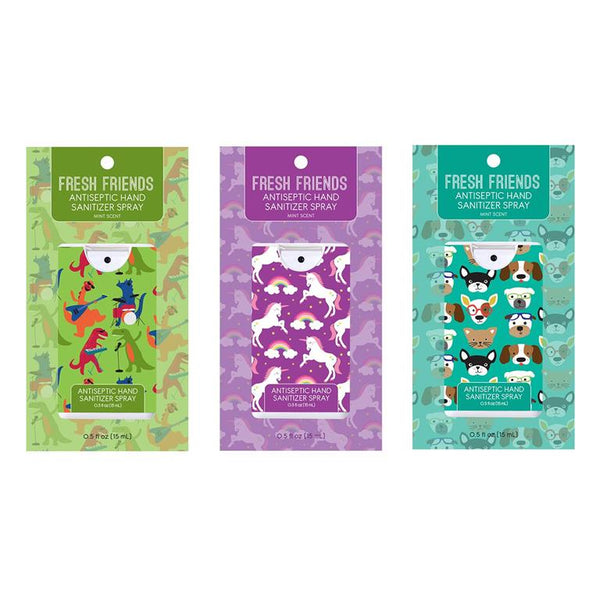 Fresh Friends Mint Scent Hand Sanitizer 3 Designs