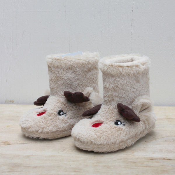 Kid's Reindeer Bootie Slippers
