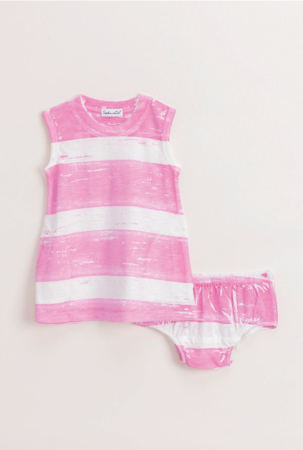 Splendid Infant Girl Garment Stripe Dress Set