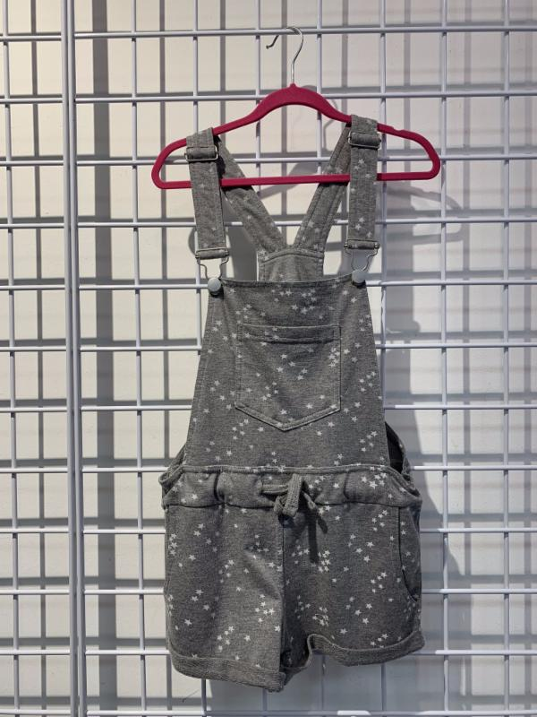 Vintage Havana Washed French Terry Star Print Short Overall