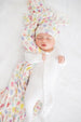 Summer newborn top knot hat
