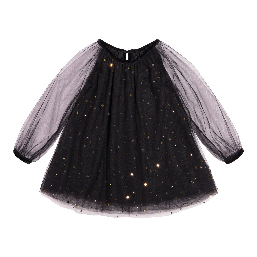 Tulle Dress with Gold Stars