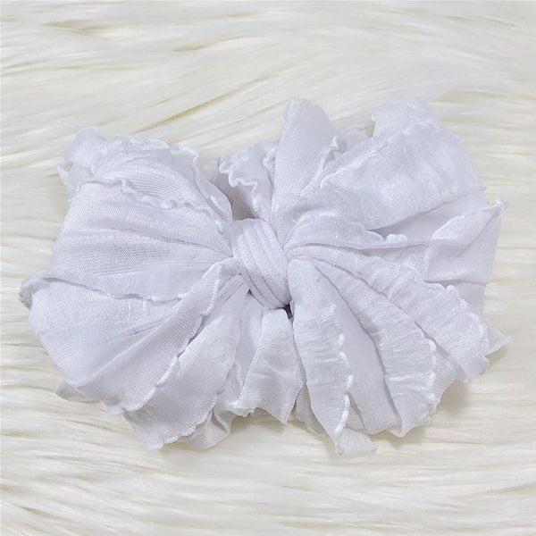 Ruffle Headband - White